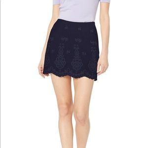 NWT Cupcakes and Cashmere Embroidered Mini Skirt